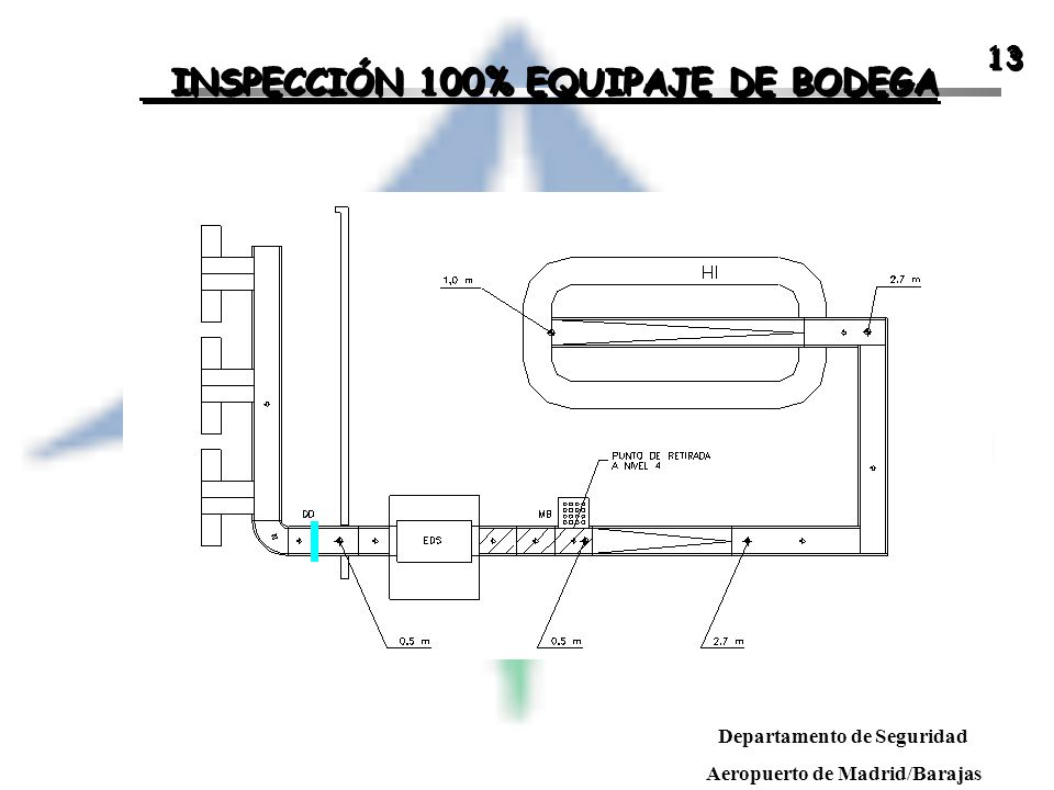 INSPECCIÓN 100% EQUIPAJE DE BODEGA
