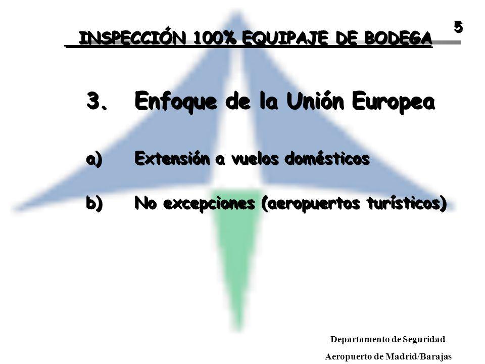 3. Enfoque de la Unión Europea