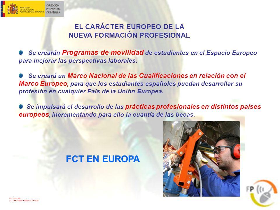 EL CARÁCTER EUROPEO DE LA NUEVA FORMACIÓN PROFESIONAL