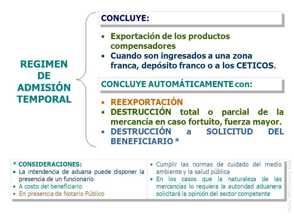 REGIMEN DE ADMISIÓN TEMPORAL
