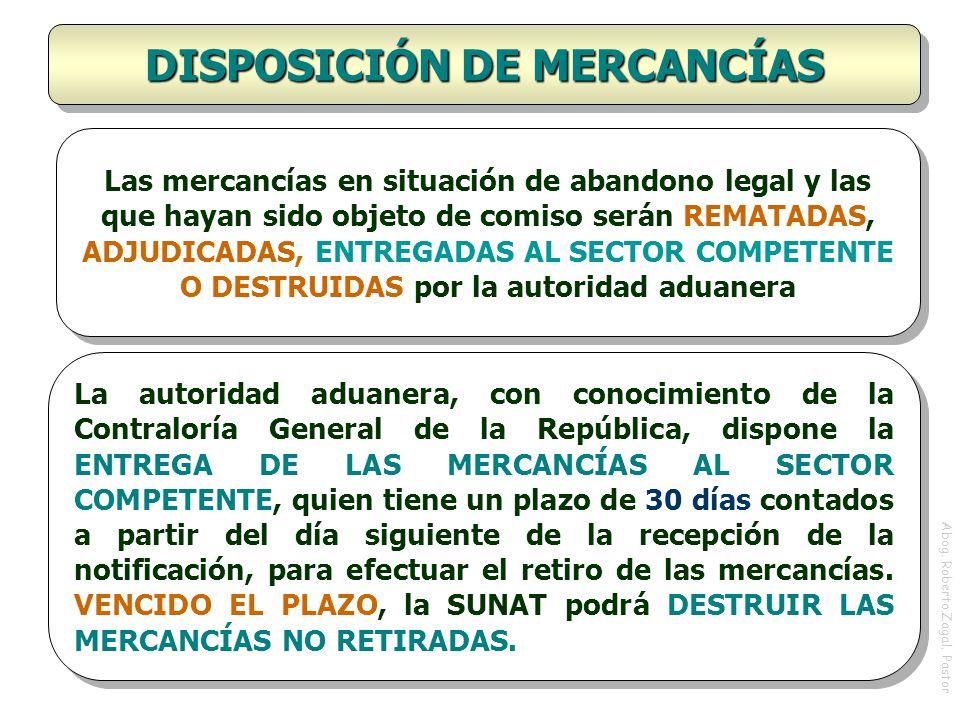 DISPOSICIÓN DE MERCANCÍAS
