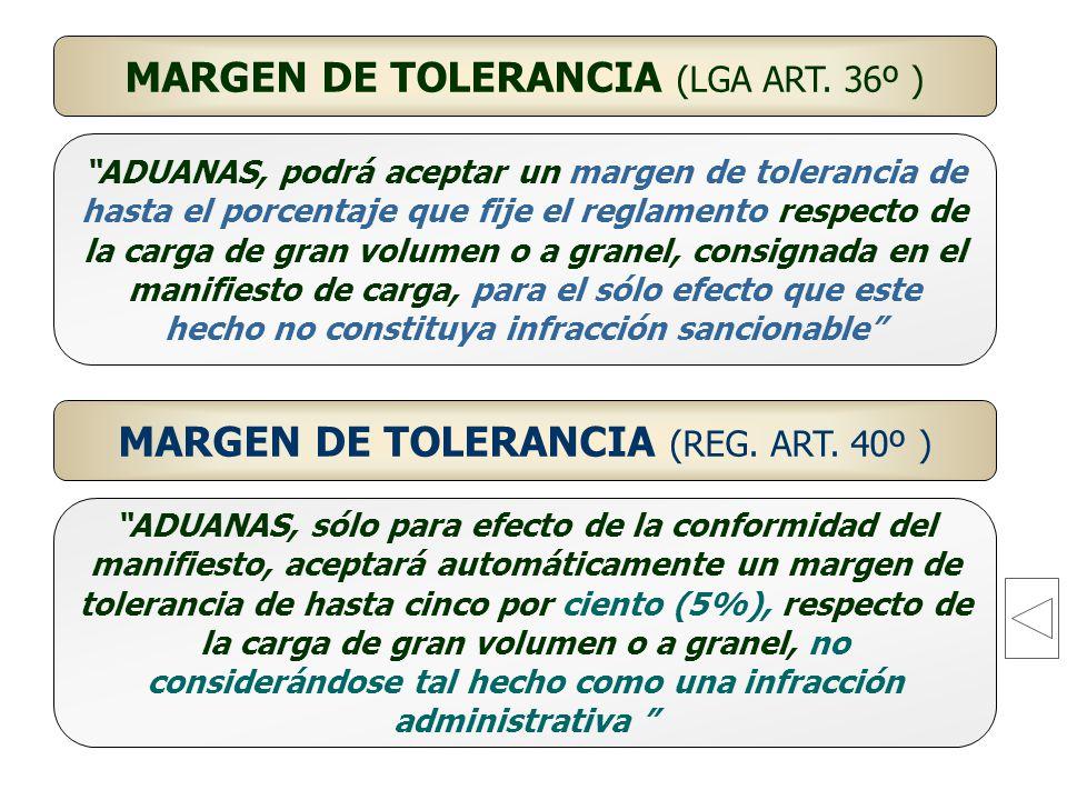 MARGEN DE TOLERANCIA (LGA ART. 36º )