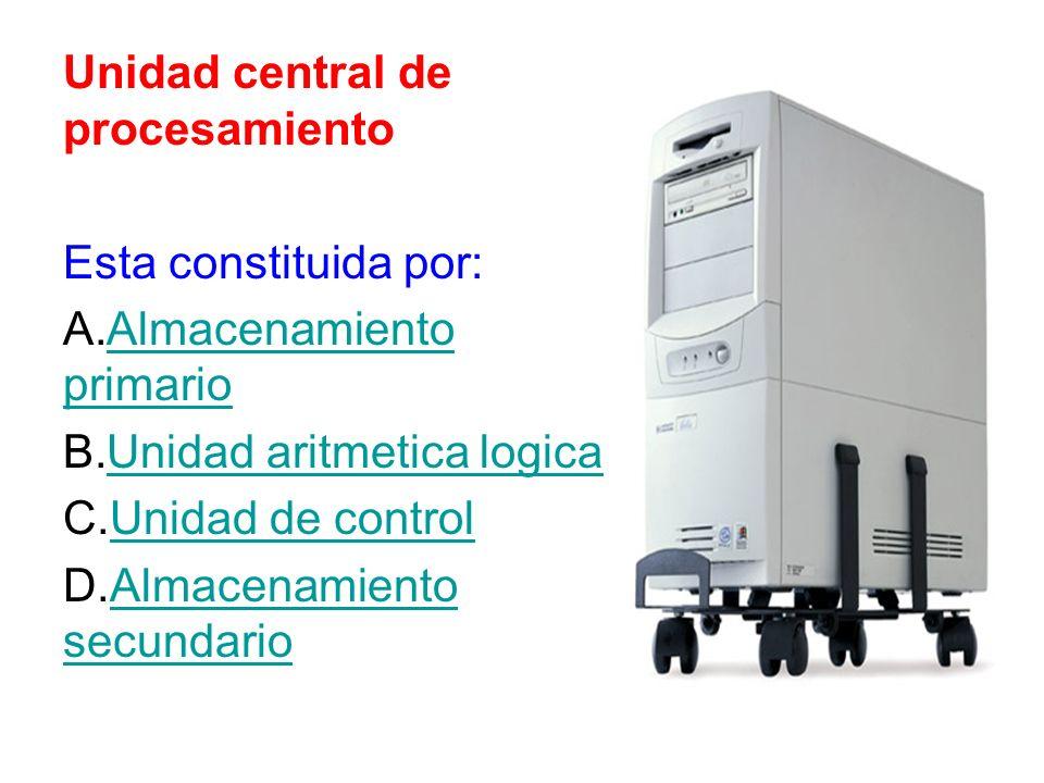 Unidad central de procesamiento