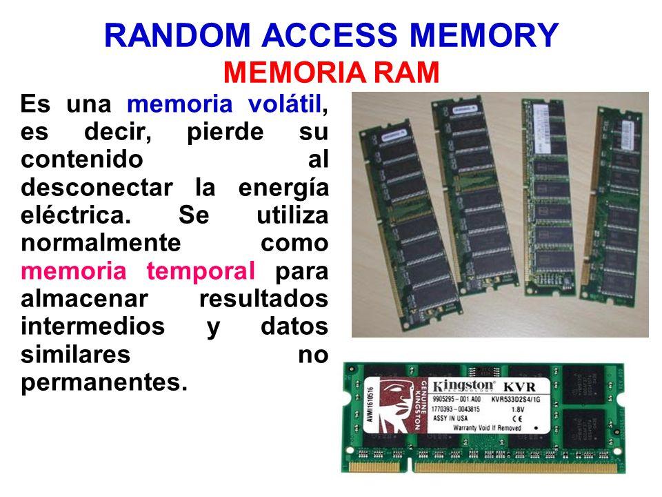 RANDOM ACCESS MEMORY MEMORIA RAM