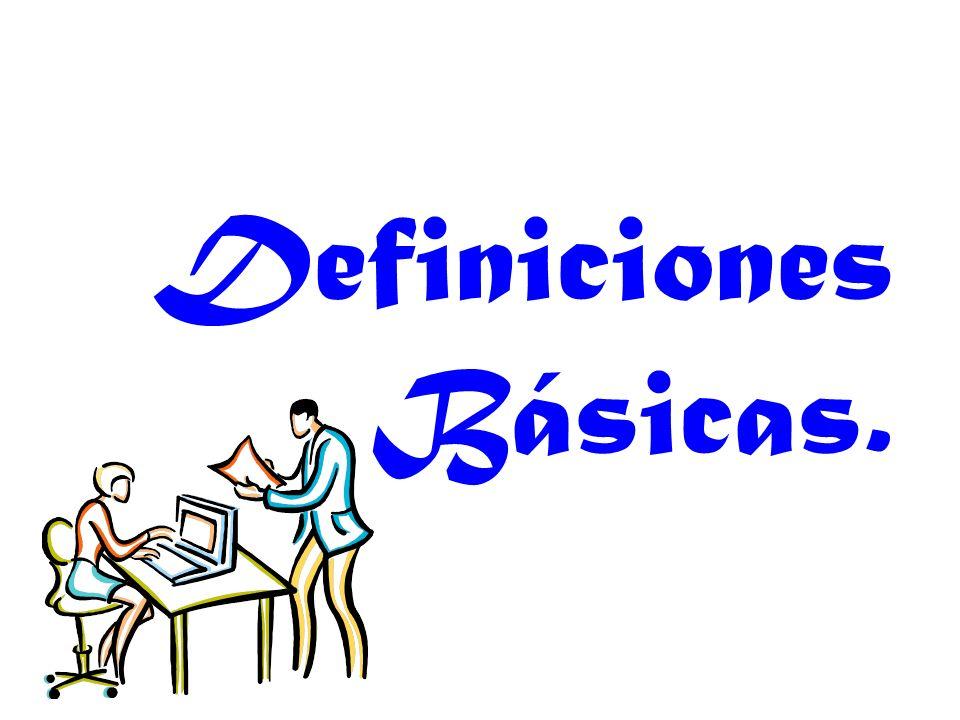Definiciones Básicas.