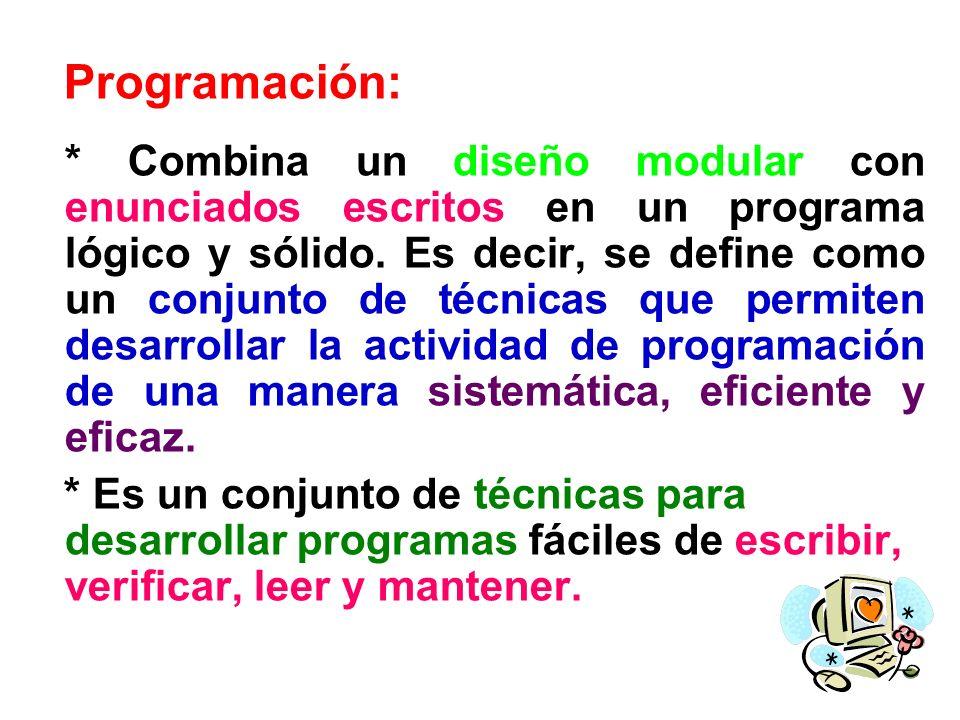 Programación: