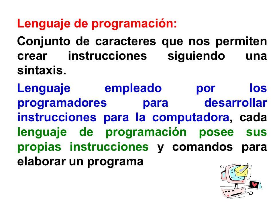 Lenguaje de programación: