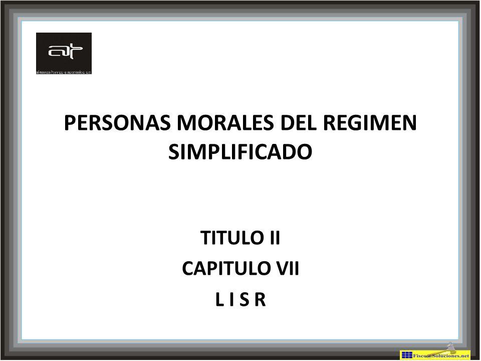 PERSONAS MORALES DEL REGIMEN SIMPLIFICADO