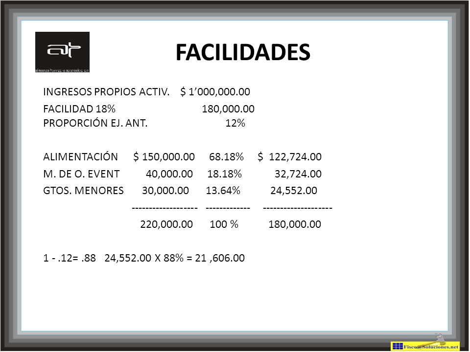 FACILIDADES INGRESOS PROPIOS ACTIV. $ 1'000,000.00