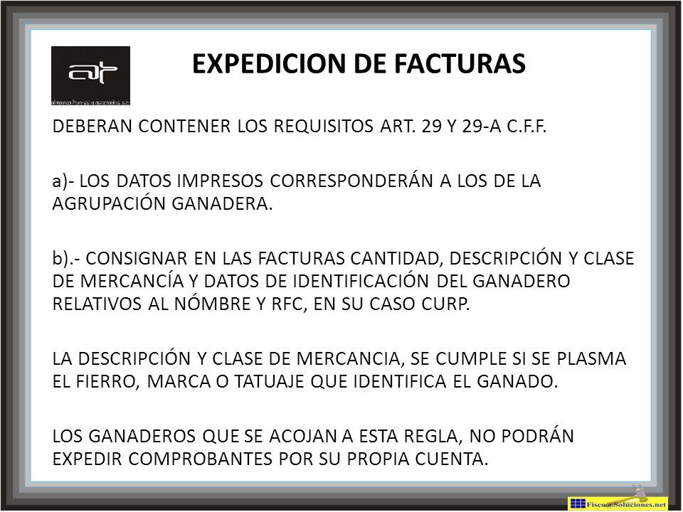 EXPEDICION DE FACTURAS