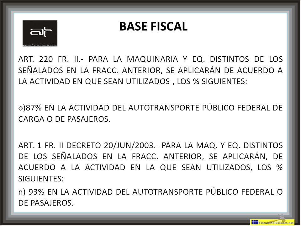 BASE FISCAL