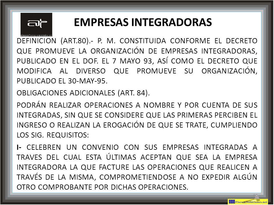 EMPRESAS INTEGRADORAS