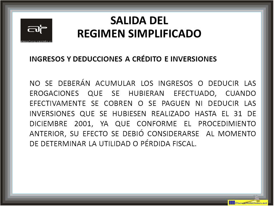 SALIDA DEL REGIMEN SIMPLIFICADO