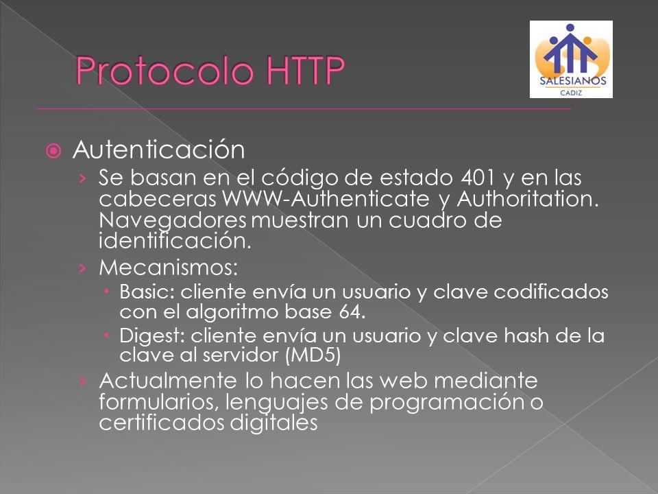 Protocolo HTTP Autenticación