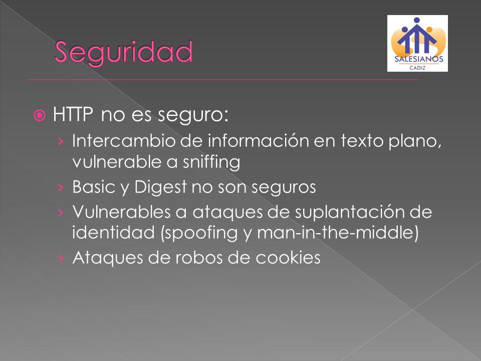 Seguridad HTTP no es seguro:
