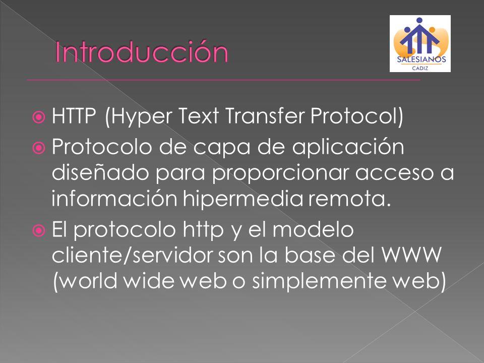 Introducción HTTP (Hyper Text Transfer Protocol)