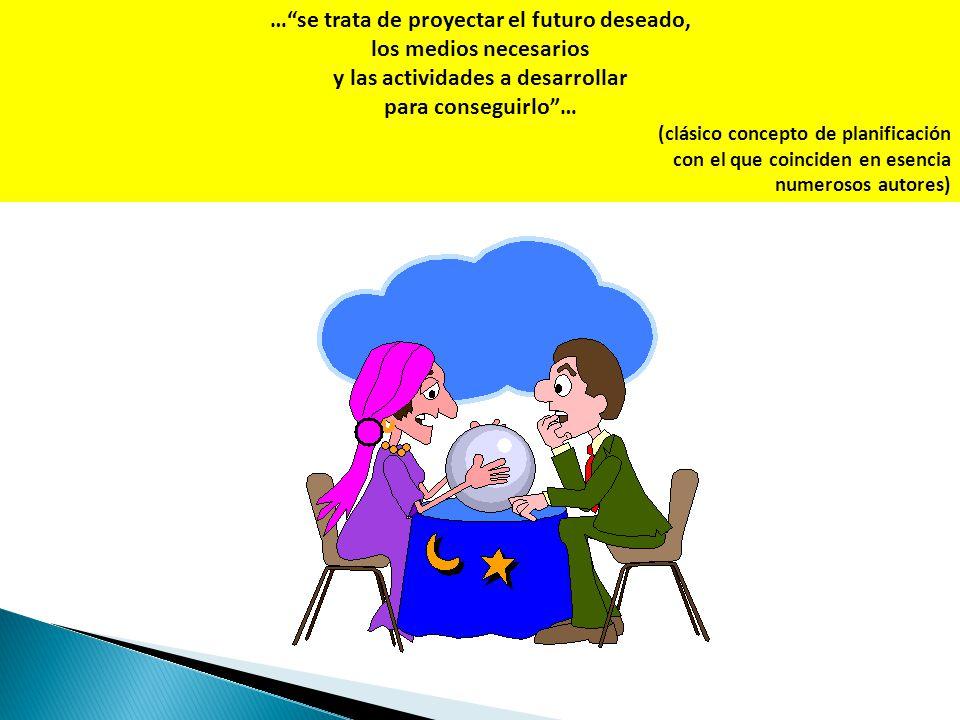 … se trata de proyectar el futuro deseado, los medios necesarios