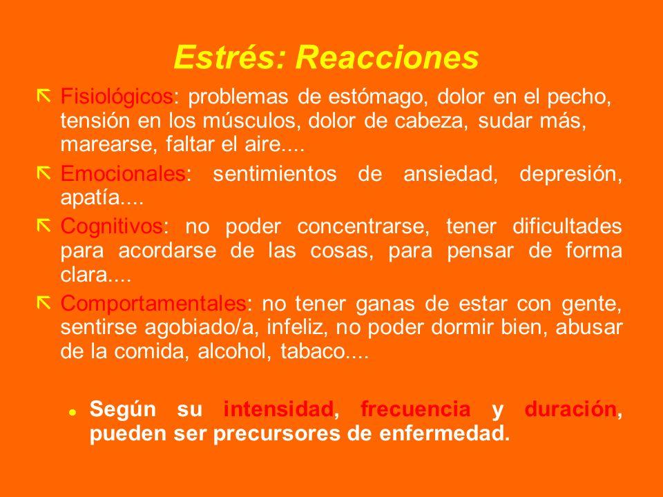 Estrés: Reacciones