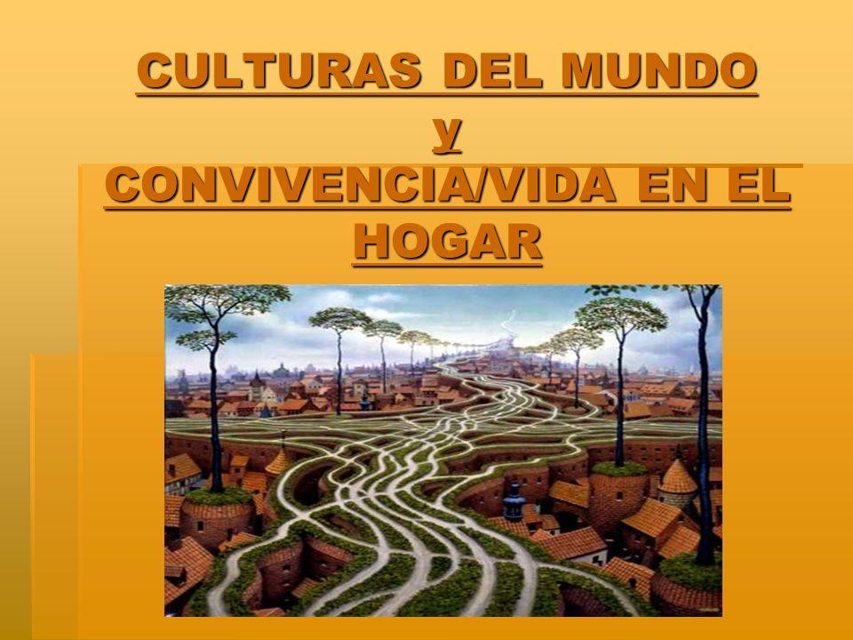 CULTURAS DEL MUNDO y CONVIVENCIA/VIDA EN EL HOGAR