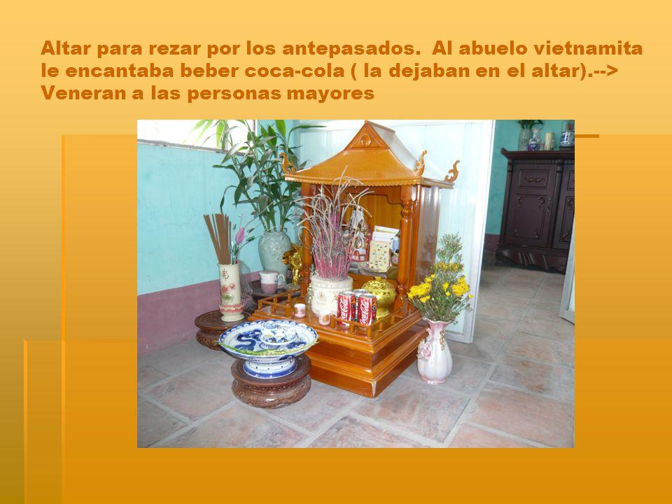 Altar para rezar por los antepasados