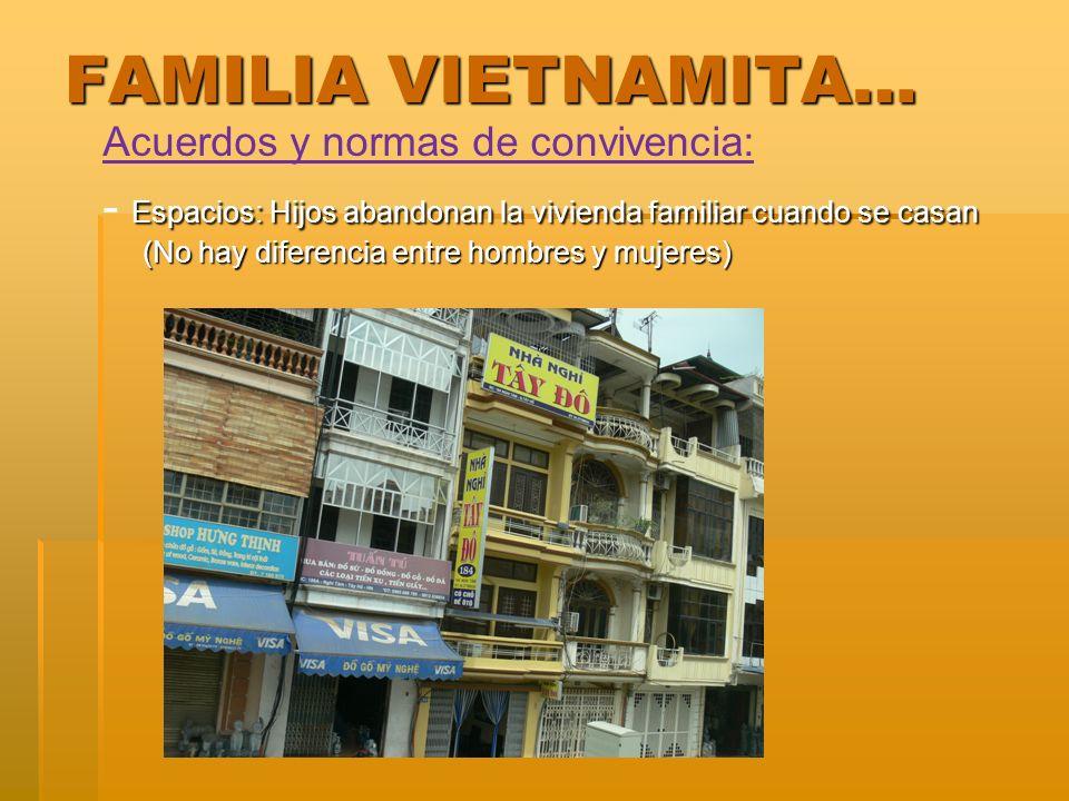 FAMILIA VIETNAMITA… Acuerdos y normas de convivencia: