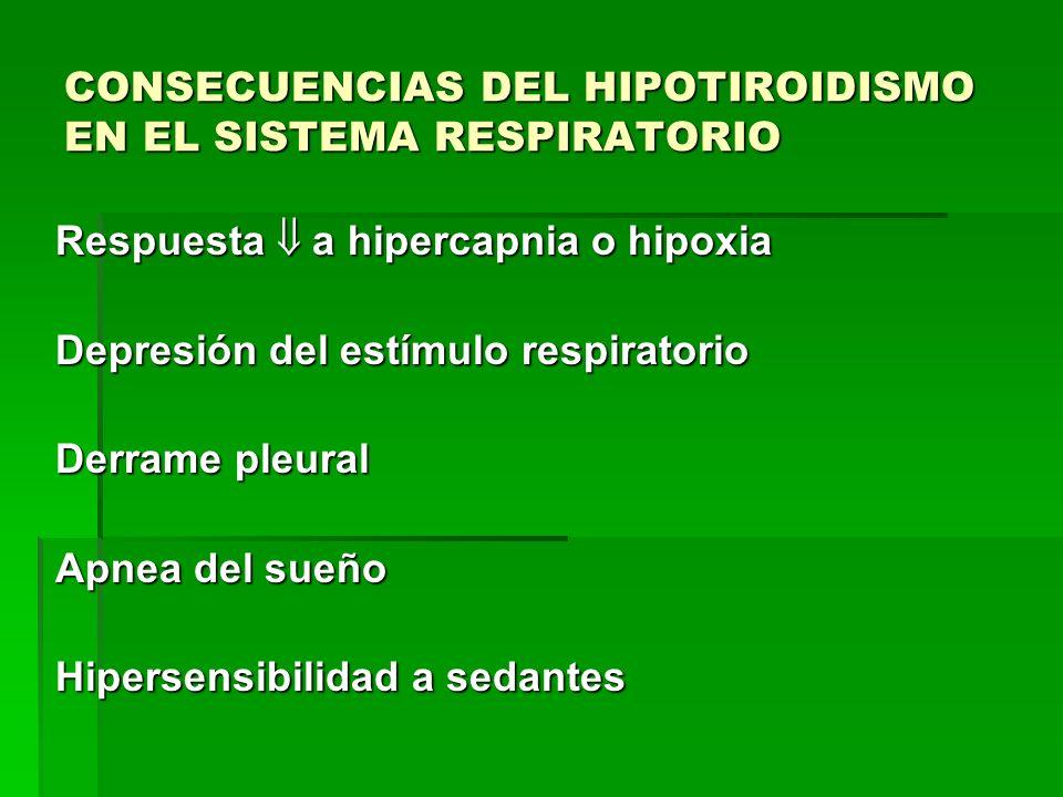 CONSECUENCIAS DEL HIPOTIROIDISMO EN EL SISTEMA RESPIRATORIO