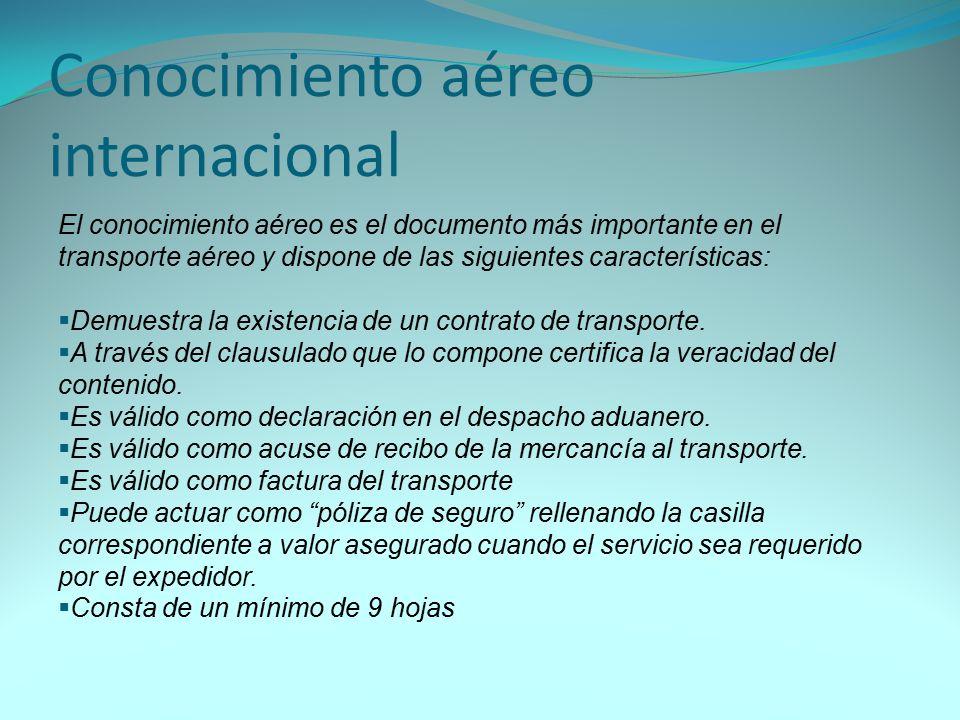 Conocimiento aéreo internacional