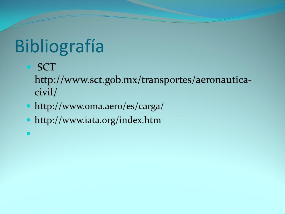 Bibliografía SCT http://www.sct.gob.mx/transportes/aeronautica-civil/