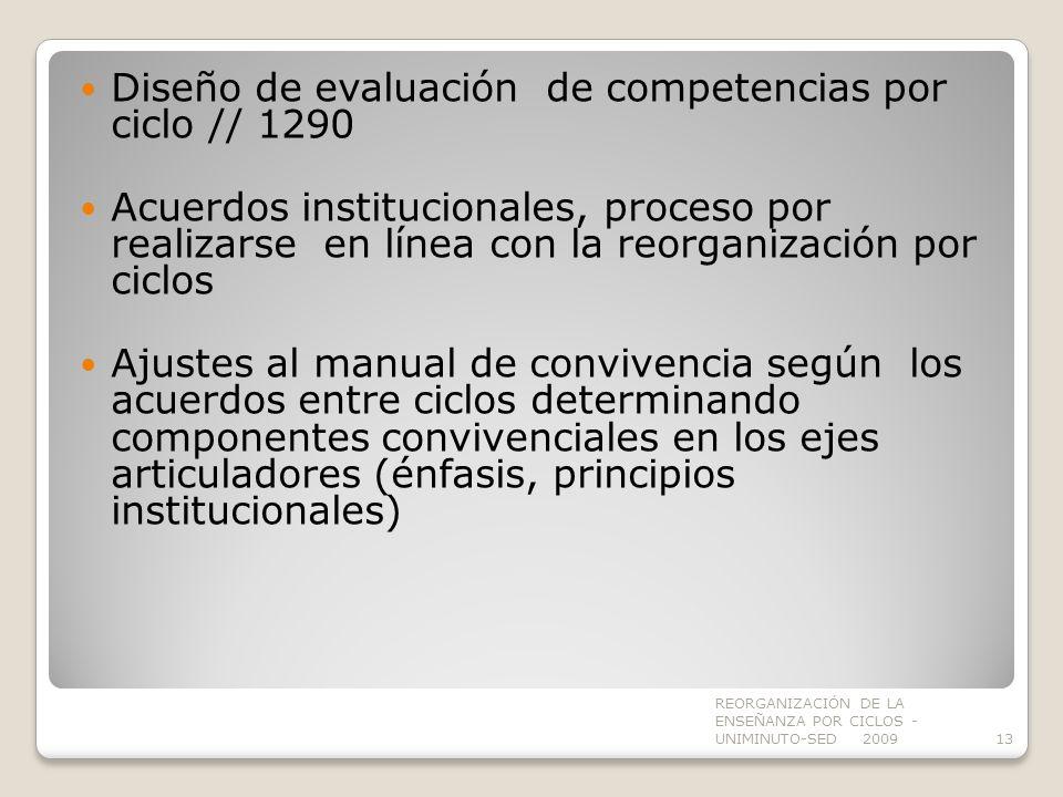 Diseño de evaluación de competencias por ciclo // 1290