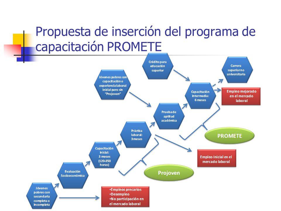 Propuesta de inserción del programa de capacitación PROMETE