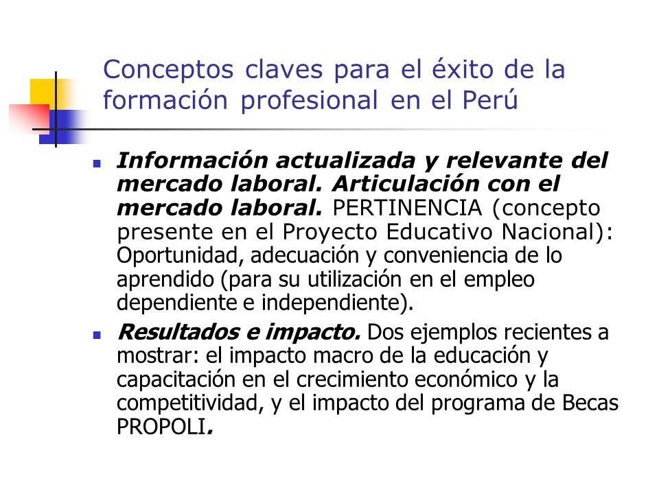 Conceptos claves para el éxito de la formación profesional en el Perú