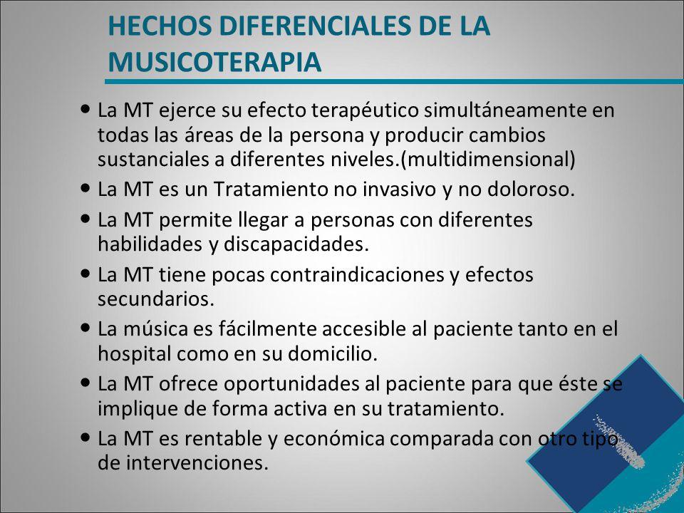 HECHOS DIFERENCIALES DE LA MUSICOTERAPIA