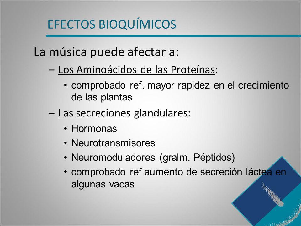 La música puede afectar a: