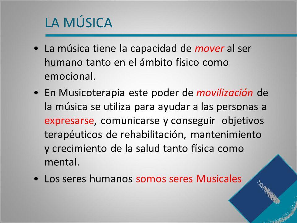 LA MÚSICA La música tiene la capacidad de mover al ser humano tanto en el ámbito físico como emocional.
