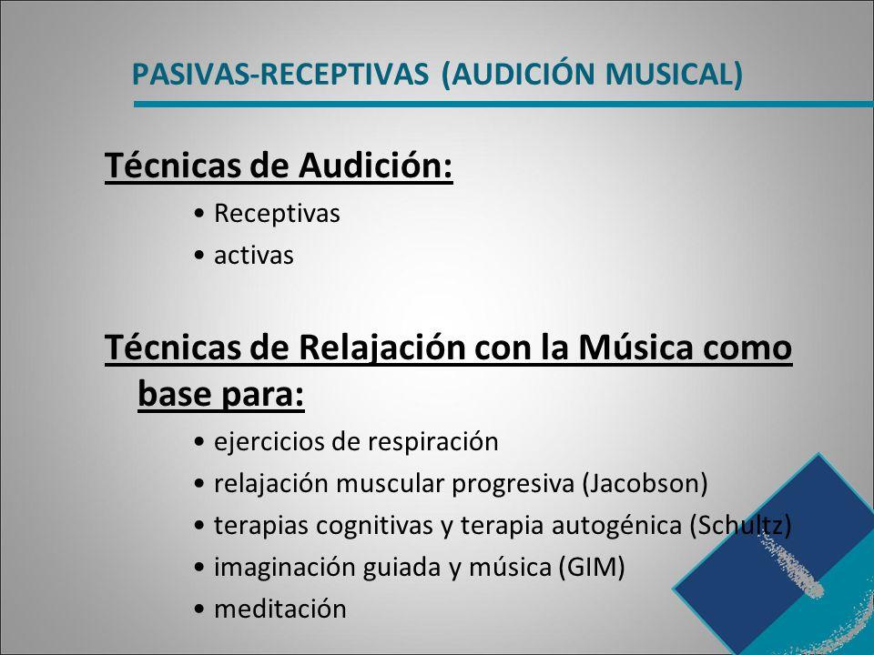 PASIVAS-RECEPTIVAS (AUDICIÓN MUSICAL)