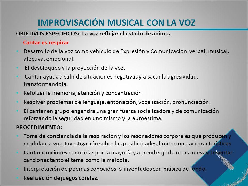 IMPROVISACIÓN MUSICAL CON LA VOZ