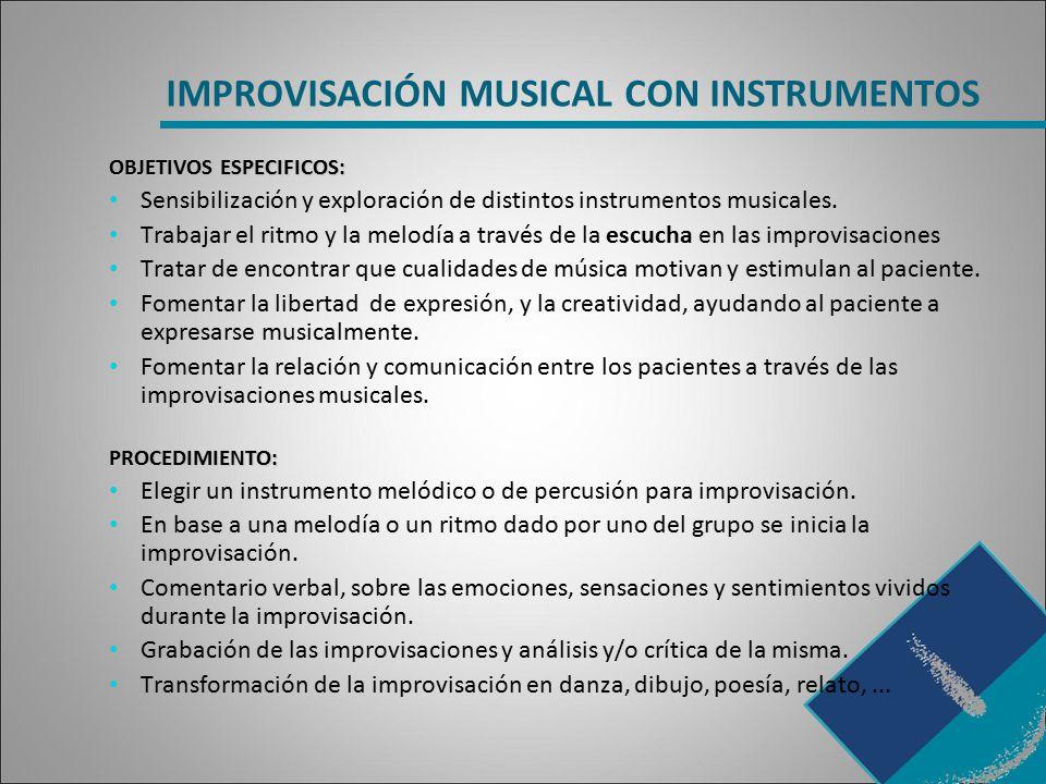 IMPROVISACIÓN MUSICAL CON INSTRUMENTOS