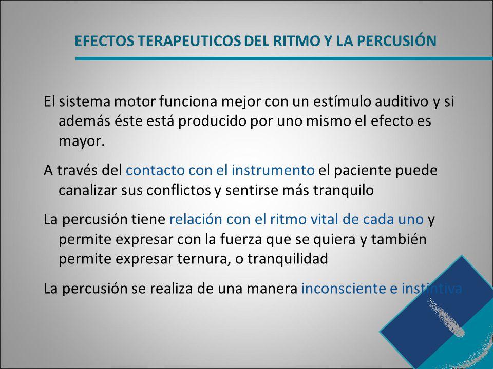 EFECTOS TERAPEUTICOS DEL RITMO Y LA PERCUSIÓN