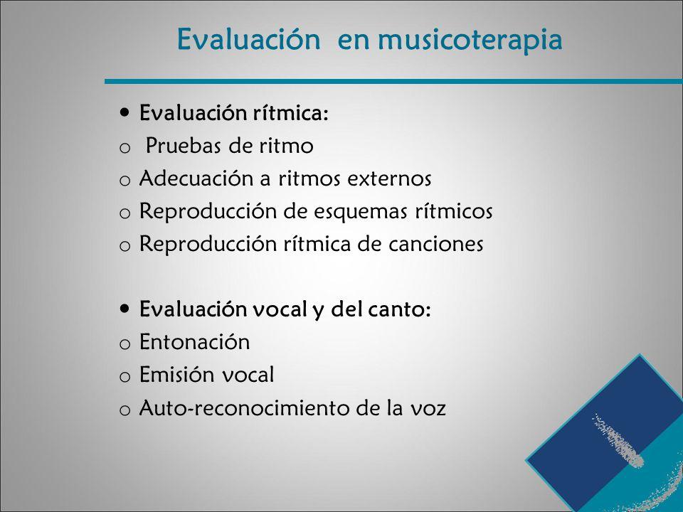 Evaluación en musicoterapia