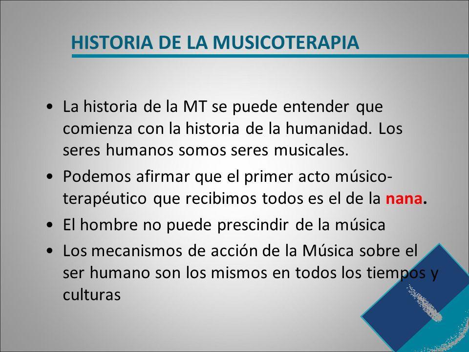 HISTORIA DE LA MUSICOTERAPIA