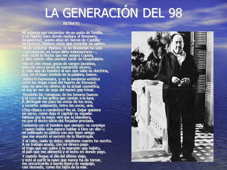 LA GENERACIÓN DEL 98 RETRATO.