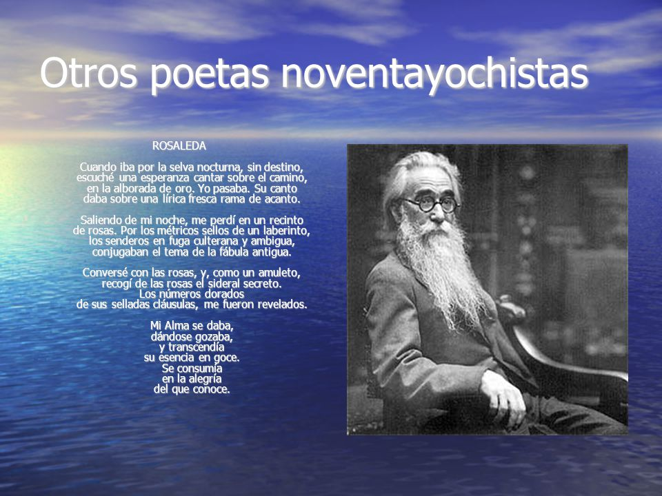 Otros poetas noventayochistas