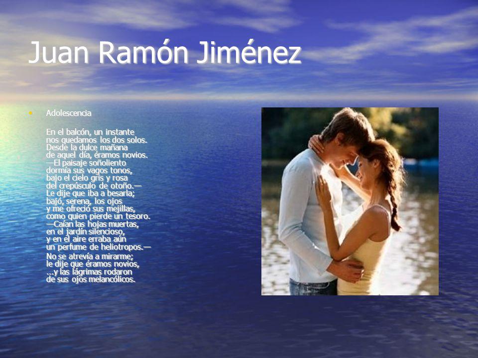Juan Ramón Jiménez Adolescencia