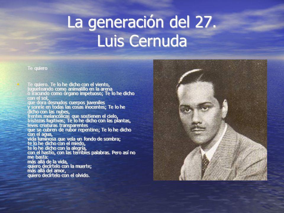 La generación del 27. Luis Cernuda