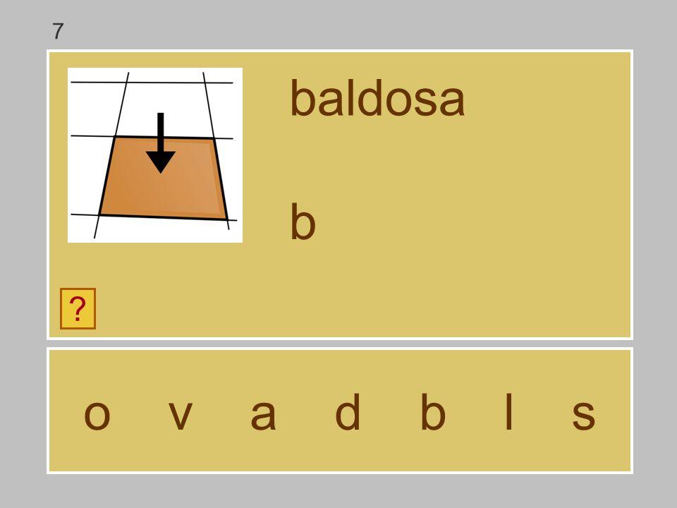 7 baldosa b o v a d b l s