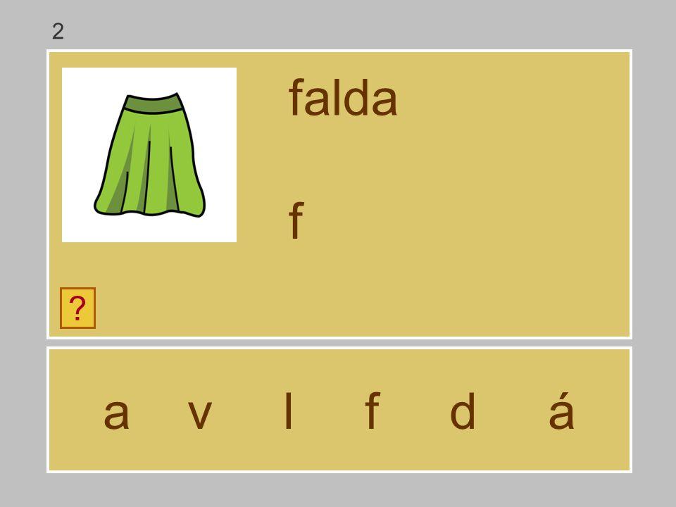 2 falda f a v l f d á