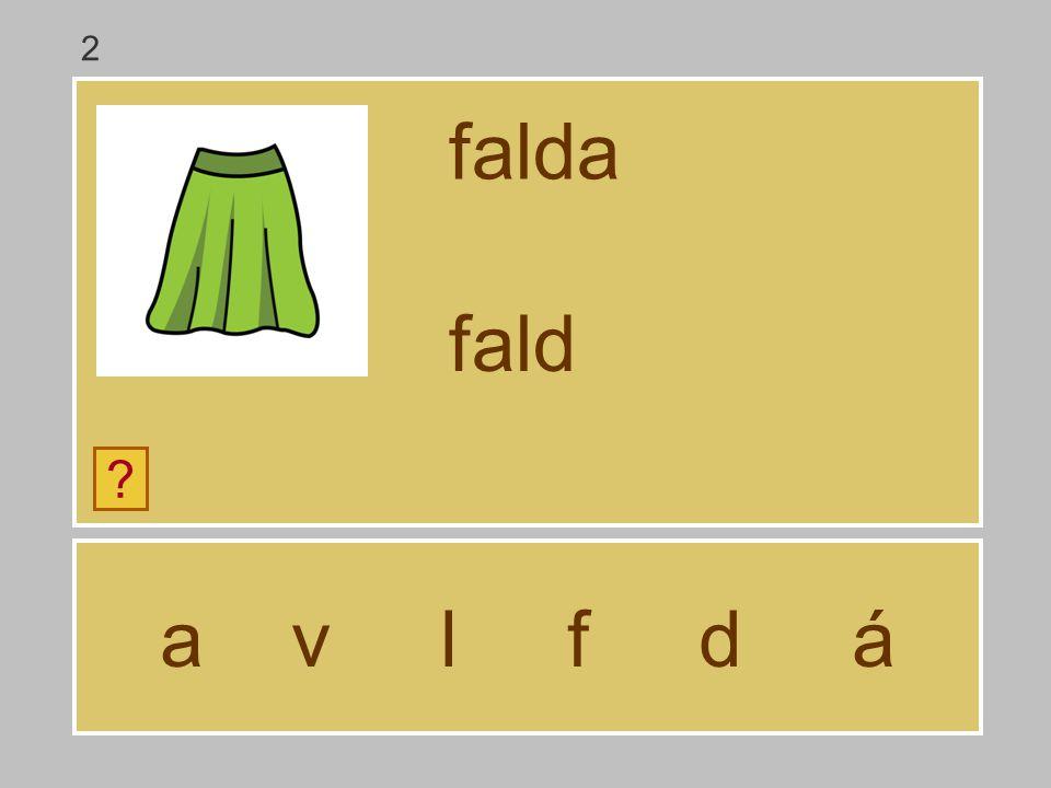 2 falda fald a v l f d á