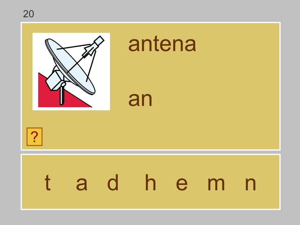 20 antena an t a d h e m n