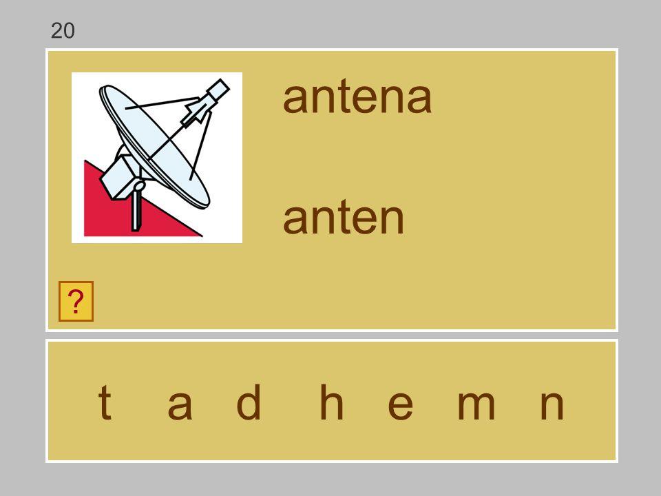 20 antena anten t a d h e m n