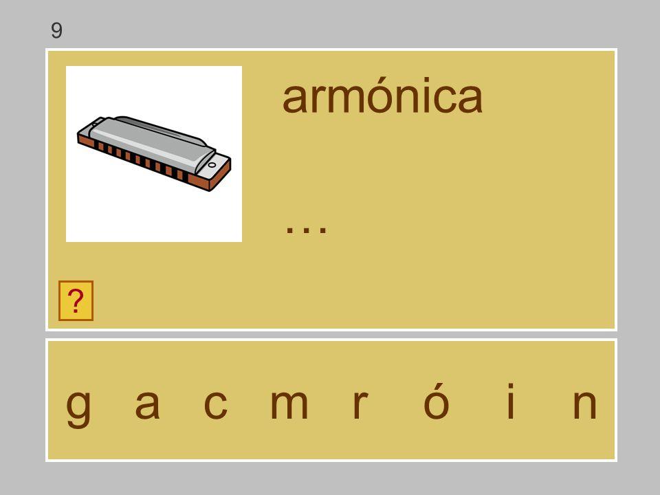 9 armónica … g a c m r ó i n
